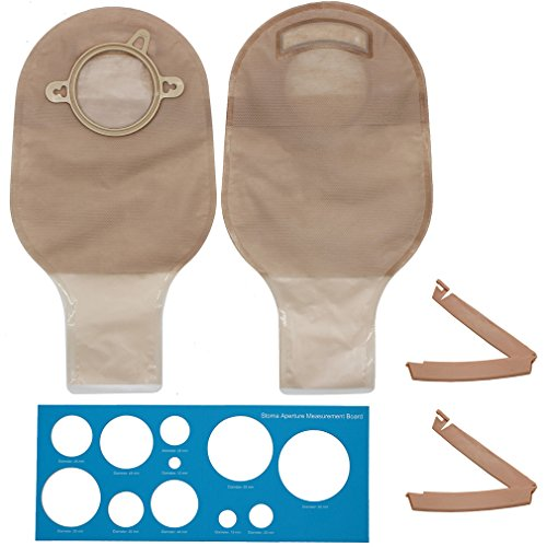 Colostomy Bag (LotFancy 10 Drainable Pouches - Ostomy Bags with Clamps for Colostomy Ileostomy Stoma Care, Cut-to-Fit, Two-Piece System, FDA Approved)