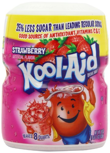 Kool Aid Strawberry Drink Mix (19 oz Canister, Pack of 6)