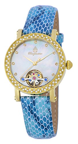 Burgmeister Women's ' Automatic Stainless Steel and Leather Casual Watch, Color:Blue (Model: BM538-233)