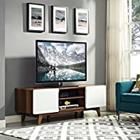 Modway EEI-2543-WAL-WHI Tread, 59 TV Stand, Walnut White
