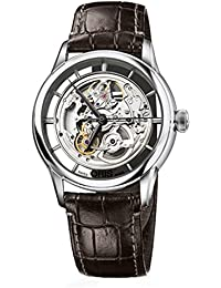 73476844051LS Watch Artelier Skeleton Mens - Silver Dial Steel Case Automatic Movement - 734 7684 4051. Oris