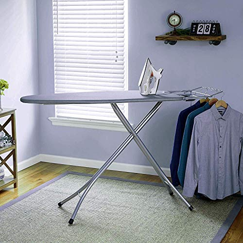 Oumffy X-Pres Ace - Extra Large Foldable Ironing Board with Ironing Table with Iron Stand (Grey)