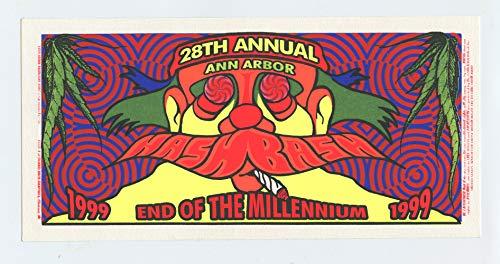 Bash Tickets (Hash Bash Handbill 28th Annual 1999 Ann Arbor)