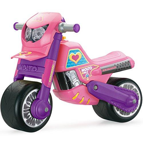 Rutschermotorrad, breite Reifen, geeignet für Innen und Außen, 69 cm - Laufrad Mödchen Motorrad Roller Lernlaufrad Kinderbike Lauflernrad Rosa Pink