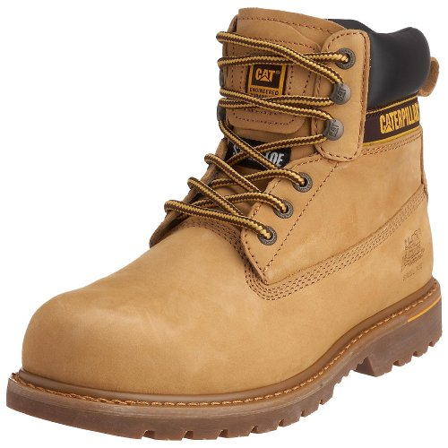 Cat Footwear Holton SB - Botas de seguridad para hombre Marrón (Honey)
