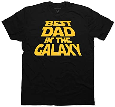 c74a5cf5 Amazon.com: Best Dad in The Galaxy T-Shirt, for Dad & Bonus Sticker ...