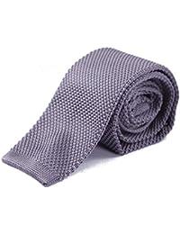 "HDE Men's Skinny Knit Tie Vintage Square End 2"" Wide Necktie"