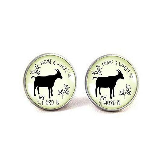 asd Goat Jewelry - Llavero con Colgante de Cabra para el ...