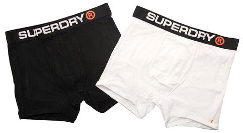 Superdry Sport Boxer Shorts Monochrome Double Pack White/Black