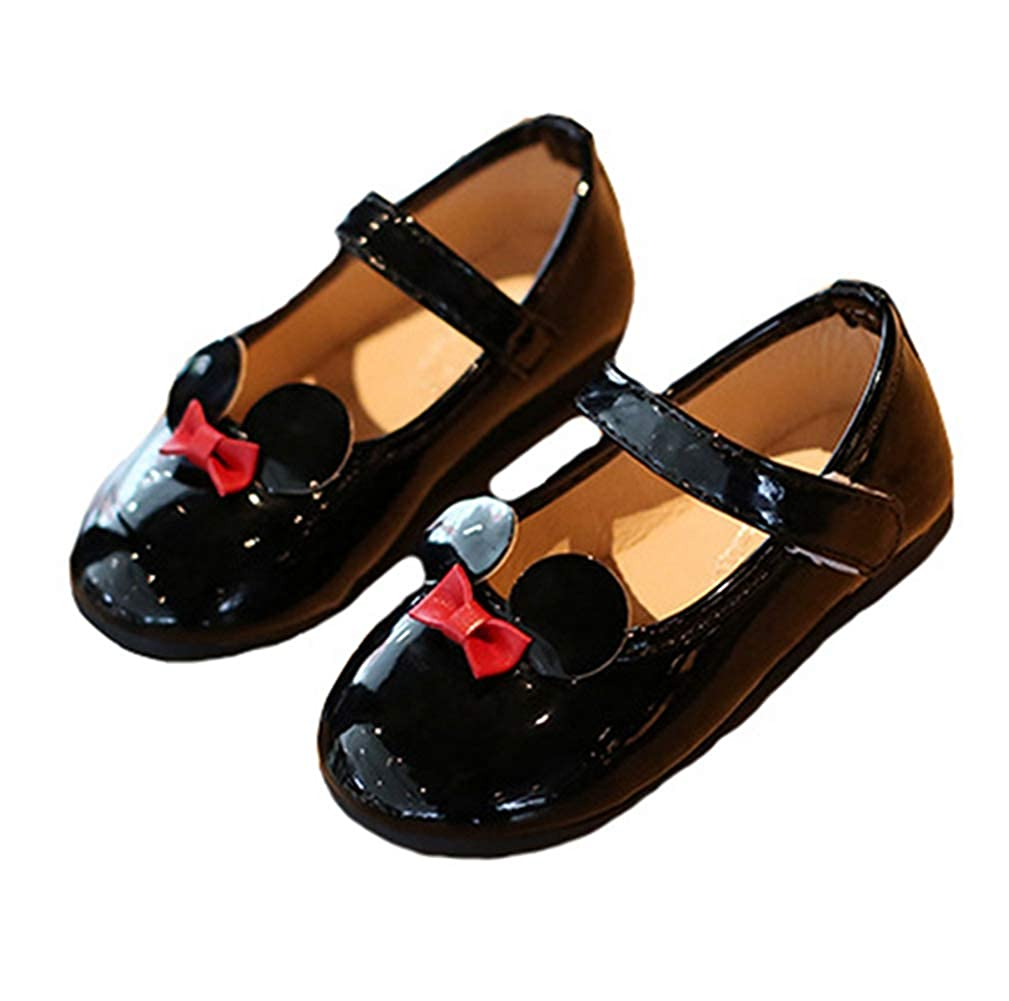 LGXH Breathable Baby Girls Mary Jane Shoes Toddler Casual Soft Sole Bowknot Flats Princess Dress Shoes