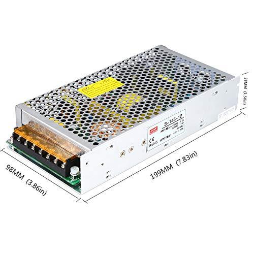 Output Voltage: 12V, Input Voltage: 110V Utini 12V12A Switching Power Supply 145W12V Camera Power Supply Monitoring Power Supply centralized Power Supply Model S-145-12