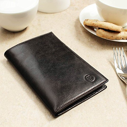 Scott® Suit Leather Brown Dark Men Chocolate for Pianillo Dress Wallet Brown Luxury Maxwell PERSONALISED aXwqxxd