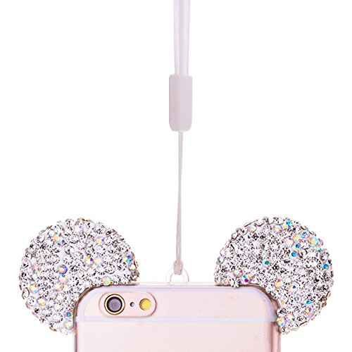iPhone 6 Plus 6S plus Cover, GrandEver Gel TPU Silicone Modbido Trasparente Clear Custodia Cristallo Bling Strass Glitter Soft Case con Amore Specchio, Flexible Protettiva Antiurto Anti Scivolo Copert