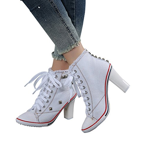 Womens Canvas Sneakers Chunky Fashion product image