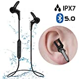 Avantree IPX7 Waterproof Bluetooth 5.0 Earbuds for Running Sports, SNUG FIT & Super Light, Sweatproof Small Mini Headphones with Mic, Up to 13H Playtime for Workout Gym Cycling Hiking - HS134