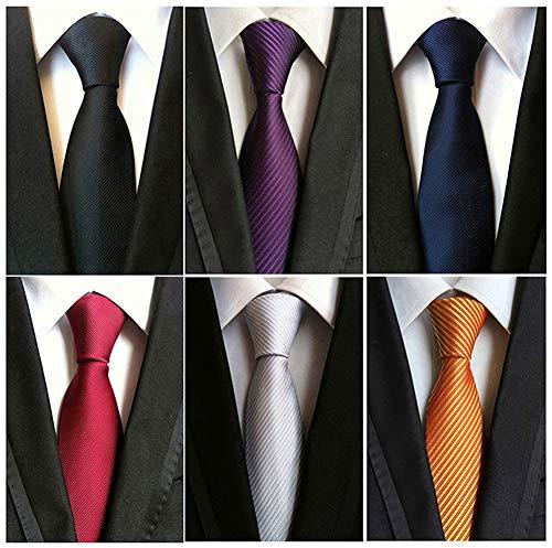 Adulove Men's Necktie Classic Silk Tie Woven Jacquard Neck Ties 6/9 / 12 PCS