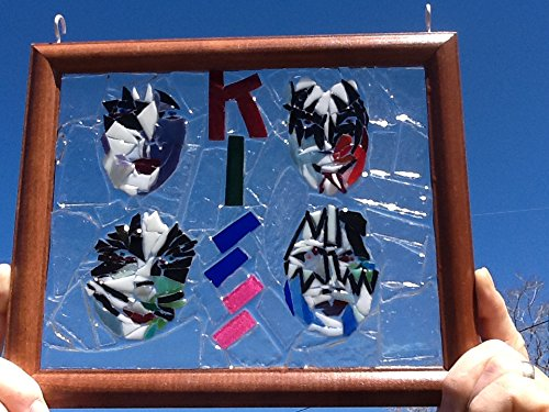 KISS Stained Glass Window Art Sun Catcher
