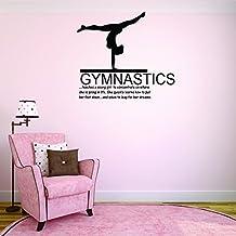 "Sports- Gymnastics Teaches a Young Girl 10""x20"" | Vinyl Wall Decal"