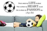 Design with Vinyl RAD 829 3 This Is What My Life Is About. This Is Where My Heart Is and This Is Where My Passion Lies. - Hope Solo Soccer Quote Wall Decal, Black, 20 x 30''