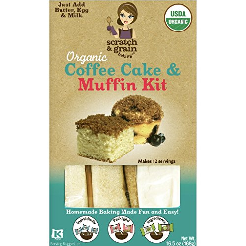 Scratch & Grain Baking Kit (Coffee Cake & Muffin, 1 pack),NET WT 16.5OZ(468g)