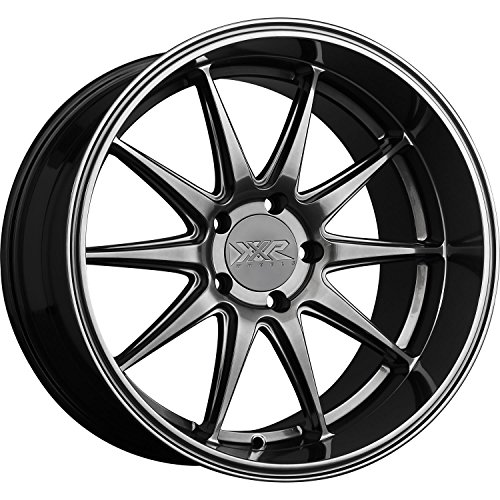 XXR Wheels 527D Chromium Black Wheel with Painted Finish (18 x 10.5 inches /5 x 4 inches, 20 mm Offset)