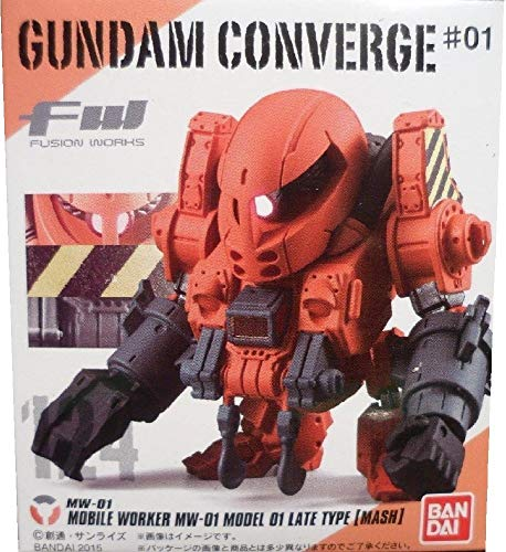 FW Gundam Converge #1 MW-01 Mobile Worker MW-01 Model Late Type (Mash) Gundam Mini Figure 124 ()