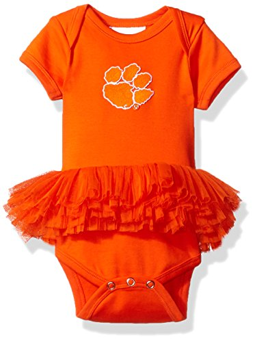 - NCAA Clemson Tigers Infant Tutu Creeper, New Born, Orange/Orange
