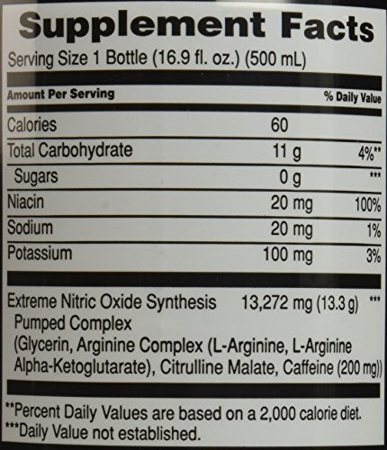 MET-Rx NOS Pumped Watermelon, 16.9 ounce, 12 count