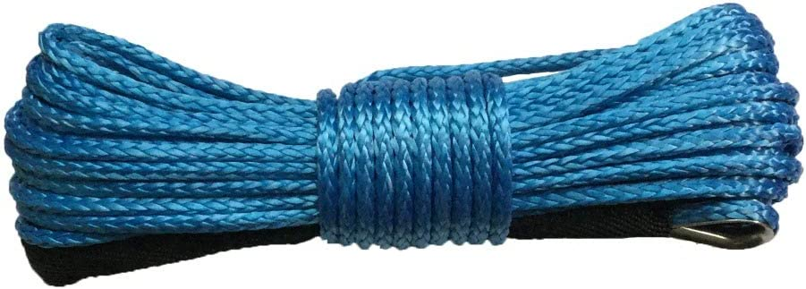LuMoosec 6mm x 15m Plasma Cable Synthetic Winch line uhmwpe Rope with Sheath car Accessories