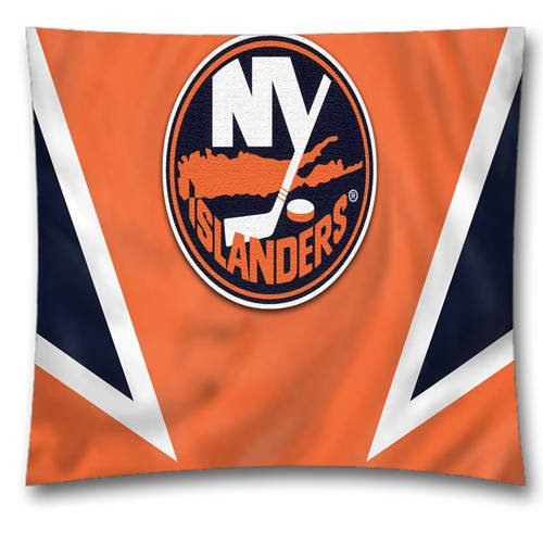 NHL Throw Pillow Cushion Covers, New York Islanders Square Decorative Throw Pillowcases, Pure Cotton, Bedding, Sofa, Couch, Size: 18x18 inches (45x45 cm) Ball Game Theme 4450 (Ny Throw Pillow)