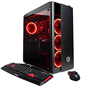 CYBERPOWERPC Gamer Xtreme VR GXiVR8220A PC (Liquid Cooled Overclockable Intel i7-8700K 3.7GHz, 16GB DDR4, NVIDIA GeForce GTX 1080 8GB, 240GB SSD+1TB HDD, Gaming Keyboard/Mouse, Win 10)