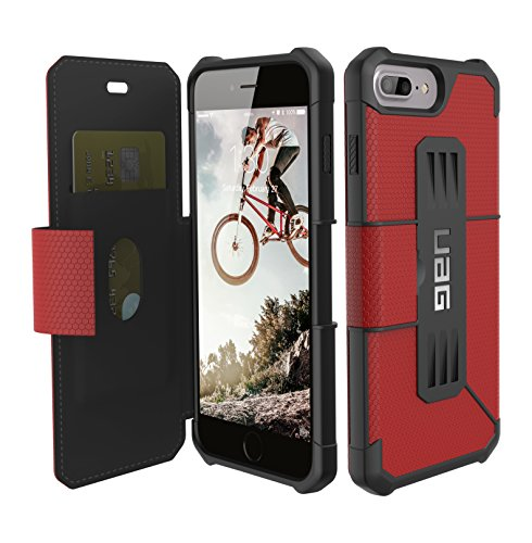 UAG Folio iPhone 8 Plus/iPhone 7 Plus/iPhone 6s Plus [5.5-inch Screen] Metropolis Feather-Light Rugged [Magma] Military Drop Tested iPhone Case