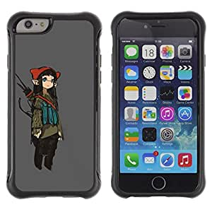 Jordan Colourful Shop@ Girl Fairy Anime Ears Long Art Japanese Rugged hybrid Protection Impact Case Cover For iPhone 6 Plus CASE Cover ,iphone 6 5.5 case,iPhone 6 Plus cover ,Cases for iPhone 6 Plus 5.5