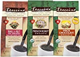 Teeccino Chicory Herbal Coffee Variety Pack (Vanilla Nut, French Roast, Maca Chocolaté), Caffeine Free, Acid Free, Coffee Alternative, Prebiotic, 11 Ounce (Pack of 3)