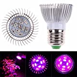 Coromose E27 10W LED Grow Light Veg Flower Indoor Plant Hydroponics Full Spectrum Lamp