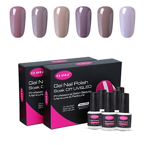 Amazing Shine Nail Art Kit Review: CLAVUZ Gel Nail Polish Set Soak Off UV Led Nail Varnish