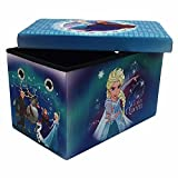Disney Frozen 24'' Multi-Functional Folding Storage Bench with 200 lb Weight Support Capacity
