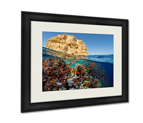 Ashley Framed Prints  Red Sea Wall Art Decor Giclee Photo Print In Black Wood Frame  Soft White Matte  Ready To Hang  20X25 Art
