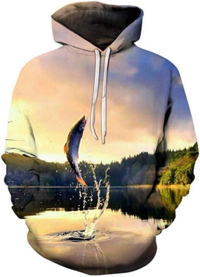 BAI Aassdd New Hip Hop Hoodie 3D gedruckte Pullover Fashion Street Freizeitkleidung mit Kapuze,M L