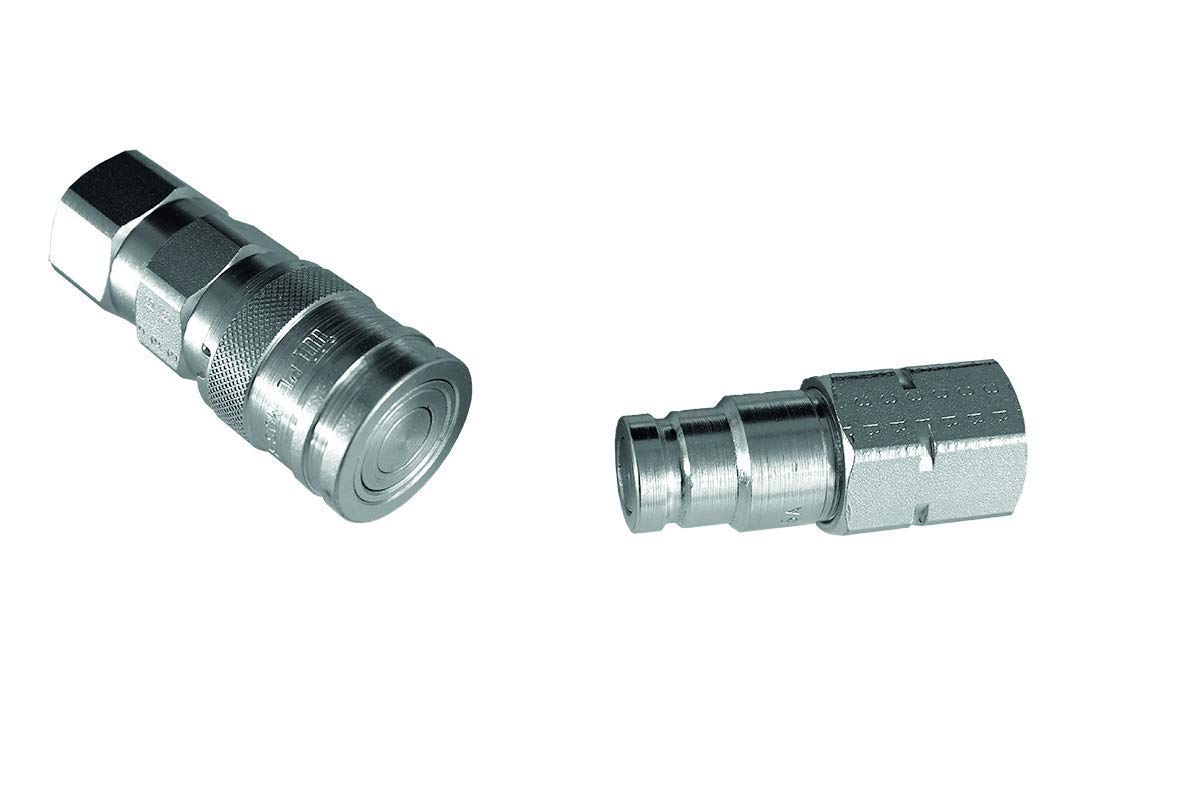 """UK BSP QUICK RELEASE FITTING HYDRAULIC CONNECTORS//COUPLINGS FLAT FACE 1//2/"""""""