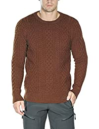 Men's Cable Knit Long Sleeves Crewneck Sweater