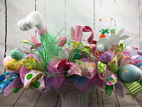 Easter Centerpiece, Easter Decor, Table Centerpiece, Bunny Bottom Centerpiece, Springtime Table