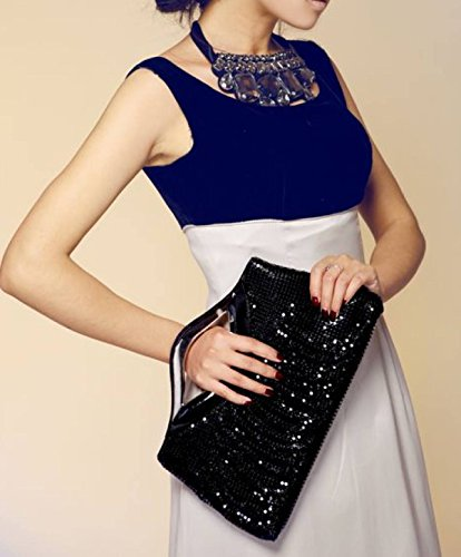 Diagonal Moda Vestido Cena Bolsa De Paquete Mano Hembra Silver Novia Ayer SHOFT5wqxw