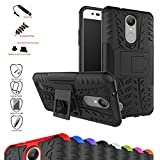 Mama Mouth Shockproof Heavy Duty Combo Hybrid Rugged Dual Layer Grip Cover with Kickstand For LG K8 2017 /LG K4 2017 /LG X300 /LG M200N /MS210 /LV3 (5.0') Smartphone,Black