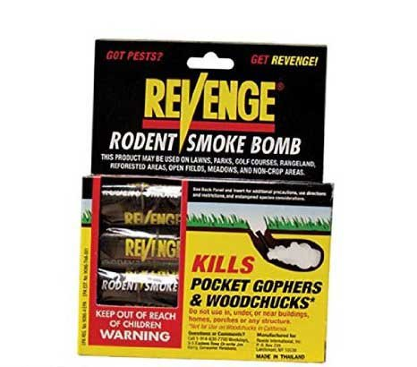 Revenge Rodent Smoke Bombs (8-pack) Kills Rats Moles Skunks Gophers Woodchucks Not Sale To: CA, AK (Flash Bangs And Smoke Grenades For Sale)