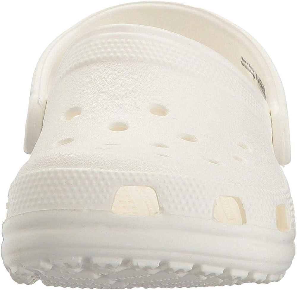 White 6 M US Women // 4 M US Men Comfortable Slip on Casual Water Shoe Crocs Classic Clog