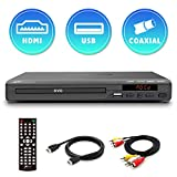 Mediasonic DVD Player - All Region DVD Players for Home with HDMI / AV Output, USB Multimedia Player Function, Upscaling 1080P, High Speed HDMI 2.0 & AV Cable Included (HW210AX)