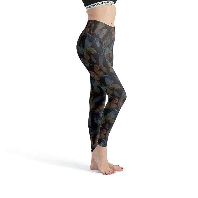 Dofeely Dragonfly Mandela - Pantalones de Deporte para Mujer ...