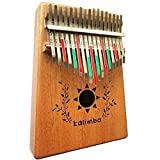 Luvay Kalimba 17 key Thumb Piano, Solid Mahogany Body …