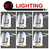 JET LIGHTING 2'' Inch LED Remodel DIMMABLE Recessed Lighting Housing, Energy Star, UL Listed, Easy Installation (6 Pack)